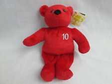 NUTRISYSTEM 10 POUND RED BEAR WEIGHT LOSS GOAL STUFFED ANIMAL INSPIRATION PLUSH