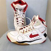 Nike AIR FLIGHT LITE HIGH 329984-161 Men's Sz 11 White/Varsity Red/Black BULLS!!
