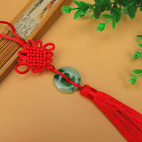 Red Tassel Chinese Knot Hanging Jewelry Craft Car Home Bag Decor