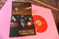 DE ANDRE LP HOMO FABER 2009 SOLO 200 COPIE NUMERATE VINILE ROSSO MINT