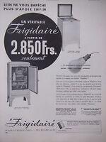PUBLICITÉ DE PRESSE 1935 VÉRITABLE FRIGIDAIRE - ADVERTISING