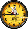 Butcher Shop Owner Meat Cutter Grocery Store Personalized Gift Sign Wall Clock