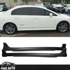 FIT FOR 06-11 07 08 09 10 HONDA CIVIC 4DOOR URETHANE HF-P SIDE SKIRT BODYKIT