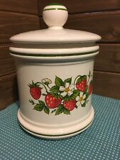 Strawberry Kitchen Cannister Green Red White Sears