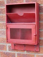 Armadietto industriale Muro Mensola Appendiabiti lettera STORAGE RACK DISPLAY UNIT Rosso