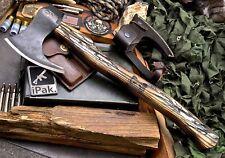 Cfk Ipak Custom Cherry Blossom Bear Handmade Forged 1095 Camping Axe Ax Knife