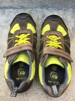 CLARKS boys shoes air spring FX, gray lime green, 12 1/2 W,