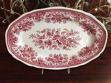 VILLEROY & BOCH Fasan in rot schöne ovale Platte 27cm x 18cm