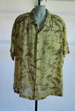 Caribbean100% Rayon Ivory Floral Short Sleeve Hawaiian Camp Shirt Men's Sz 4X