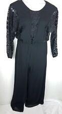 d33af94eedb Spencer Alexis Jumpsuit size 8 black long sleeve romper womens