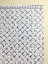 "Dollhouse Jackson's Miniatures Kitchen Wallpaper ""Dutch Tile"" 1:12 Scale"