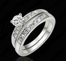 Modeschmuck-Ringe aus Metall-Legierung mit Kristall für Damen