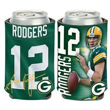Green Bay Packers Wincraft #12 Aaron Rodgers 12oz Can Coolie Free Ship