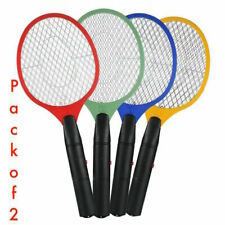 2 x Electric Batter Operated Bug Fly Insect Swatter Mosquito Killer Racket Zaper