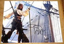 JOHNNY DEPP PIRATES HAND SIGNED COLOUR 10x8 PHOTOGRAPH UACC REGISTERED DEALERS