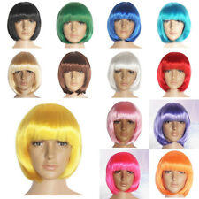 14 Colors Straight Party Short Bob Hair Wigs Costume Synthetic fiber Halloween