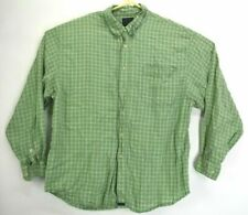 Tommy Bahama Mens XL Long Sleeve Green Plaid Button Front Casual Shirt