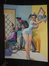 RELATOS DE PRESIDIO # 26 SEXY PIN UP GIRL ORIGINAL MEXICAN COVER ART