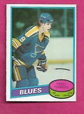 1980-81 OPC # 169 BLUES PERRY TURNBULL  ROOKIE NRMT CARD (INV# C3243)
