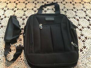 """Eddie Bauer Black Messenger Bag With Adjustable Shoulder Strap 14.5x11.5""""x5.5"""""""