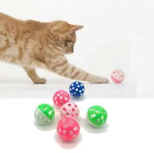 Funny Interactive Pet Puppy Cat Toy Ball with Bells Hollow Sound Plastic