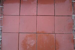 Quarry tile 9inch x 9inch Red