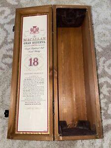 Macallan Gran Reserva 18 Year Wooden Scotch Whiskey Box