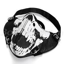 Leder Biker Motorrad Snowboard Maske Sturmmaske Sturmhaube Skimaske Skull Face