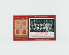 North Carolina State Wolfpack matted pic of 1983 NCAA Champs team & game program