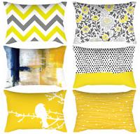 "12x20"" Yellow Decorative Cushion COVER White Gray Lumbar Soft Throw Pillow Case"