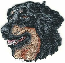 """2"""" x 2 1/4"""" Hovawart Dog Breed Portrait Looking Left Embroidery Patch"""