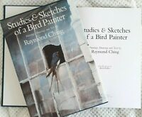 Studies & Sketches of a Bird Painter,Raymond Ching ~1st Ed in Slipcase~FREE POST