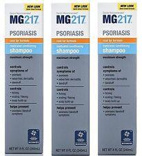 MG217 PSORIASIS SHAMPOO MAX STRENGTH 3% Coal Tar 8oz ( 3 pack )