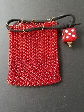Ruby Red Chainmail Dice Bag/Coin Purse