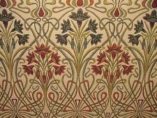Art Nouveau Jewel Thick Designer Jacquard Curtain Upholstery Cushion Use Fabric