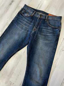 Jean Shop Mick Selvedge Jeans 32x33 Cotton Stretch Straight Slim Fit
