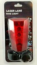 New LED Laser Lane Bike Tail Light Red Rear Mounted Warning Safety