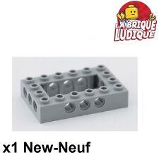 Lego Technic - 1x Brique Brick 4x6 open center gris/light bluish gray 40344 NEUF