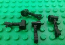 *NEW* Lego Black 1×3 Round Arm with Clip for Rare Robots Space Cars - 4 pieces