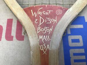 Antique Vintage Wood 1905 Wright & Ditson The Park Tennis Racket