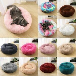 Dog/Cat Kitten Puppy Bed Fluffy Donut Comfy Pad Pet Cushion Calming Bed Mattress