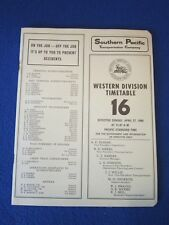 SOUTHERN PACIFIC RAILROAD TRAIN WESTERN TIMETABLE BOOKLET APRIL 27, 1980 #16 LOG