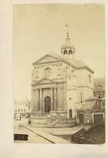 France Le Mans Une église  Vintage Albumen Print Tirage albuminé  8X6  Cir