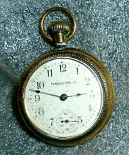 old Flagg's Special pocket watch in gold plated case