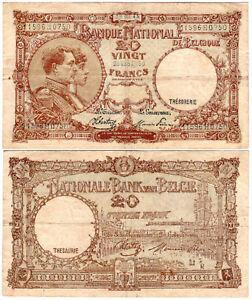 Belgium 20 Francs P#111(3) (28.03.1945) Banque Nationale de Belgique VF