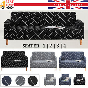 Elastic Stretch Sofa Covers Couch Slipcover Protector Settee 1/2/3/4 Seater
