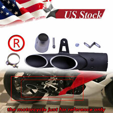 Two-Hole Aluminum Motorcycle Exhaust Muffler Pipe Kit +38-51mm Clamp
