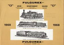 catalogo FULGUREX 1968 Gauge O HO + Preisliste 30/1/1968 CHF    D F E         aa