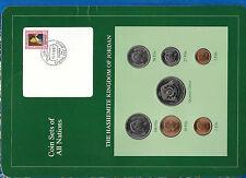 Coin Sets of All Nations Jordan 1977-1984 UNC quarter Dinar 1977 200K Mintage