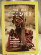 RARE NATIONAL GEOGRAPHIC MAGAZINE August 1987 Africa Starvation Rock Art Moose